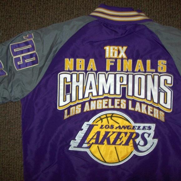 Nba Apparel By G Iii Jackets Coats Los Angeles Lakers 16 Time Championship Jacket Poshmark